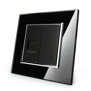 toma-de-Telefono-Con-Marco-de-cristal-Enchufe-vl-c7-1t-12-LIVOLO-Negro