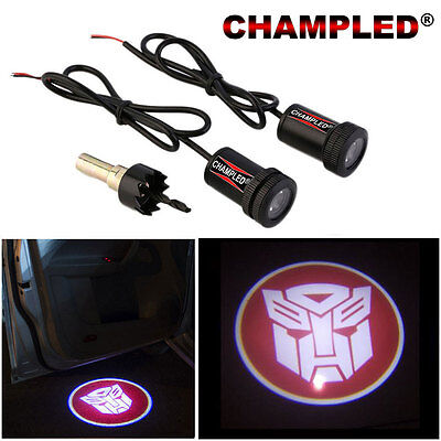Champled For Transformers Led Door Projector Logo Shadow Car Tuning Light Emblem