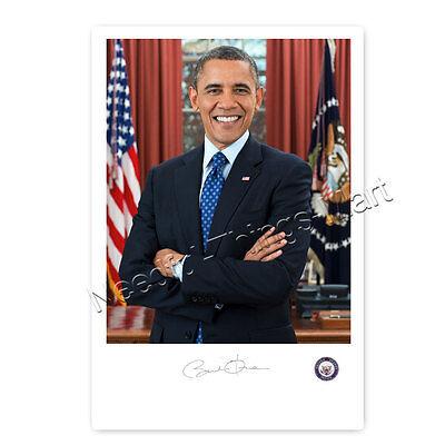Barack Obama -  Autogrammfotokarte laminiert [AK1]