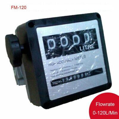 4-digital Diesel Gasoline Fuel Petrol Oil Flow Meter Counter Gauge Fm-120