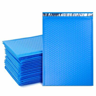 Durable Padded Envelopes 10.5x16 Bubble Wrap Mailers Large Blue Poly Bags 5