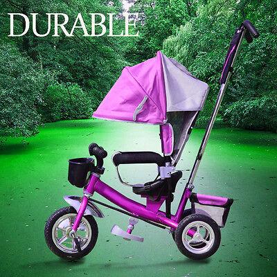 Dreirad Kinder mit Dach Lenkstange Kinderdreirad Fahrrad Baby Kleinkinder SALE