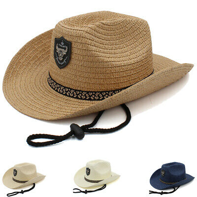 Men Women Kid Child Boy Girl Straw Western Cowboy Hat Sombrero Sunhat Summer Cap](Boys Cowboy Hat)