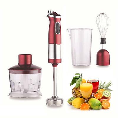 New Kingavon 750W 4 In 1 Hand Blender Mixer Set Food Processor Stirring Juice
