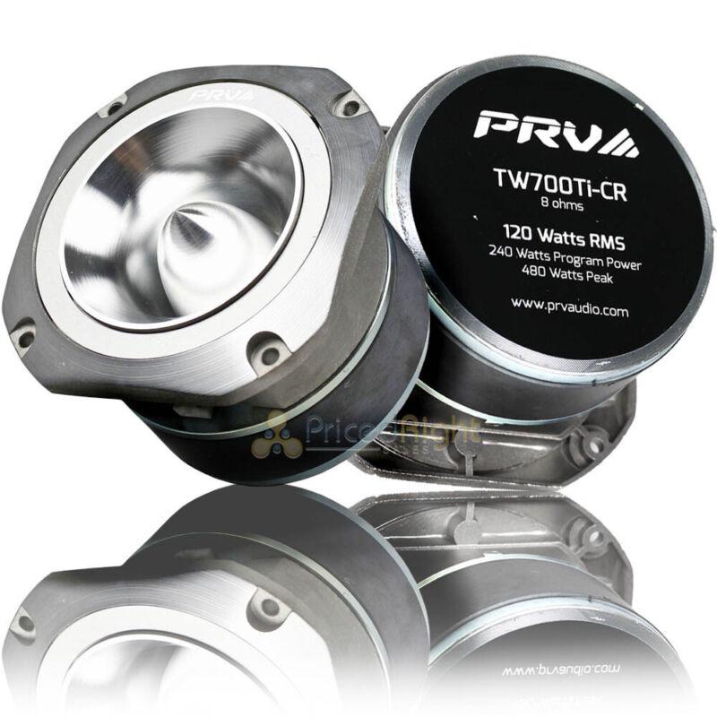 "2 Pack 4"" Super Bullet Tweeters 120 Watts RMS Power 8 Ohm PRV Audio TW700Ti-CR"