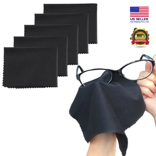 10Pcs Premium Microfiber Cleaning Cloth For Eye Glasses Phone Screen Camera Lens