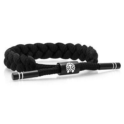 RASTACLAT Level 9 Black White Classic Shoelace Wristband Bracelet NEW