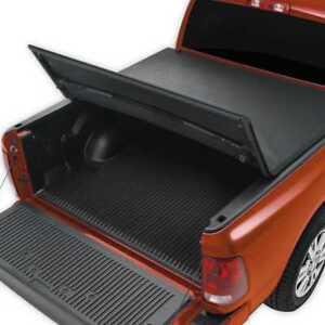 5ft Bed Black Soft Tri Fold Tonneau Cover fits 05-18 Nissan Frontier