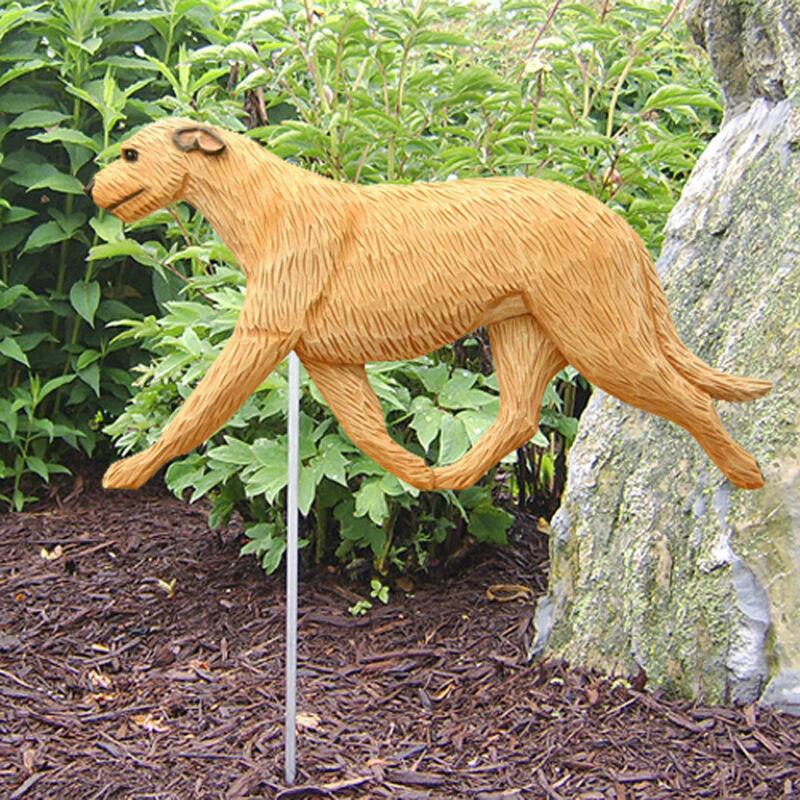 Irish Wolfhound Outdoor Garden Sign Hand Painted Figure Fawn