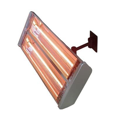 1500W Infrared Double Electric Patio Heater Wall Mount Remote RC Outdoor Indoor ()