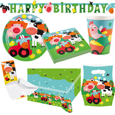Bauernhof Farm Fun Kindergeburtstag Auswahl Deko Party Dekoration Geburtstag NEU