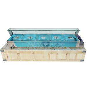 5-Pan Commercial Bain-Marie Buffet Food Warmer Steam Table 190019