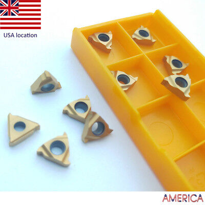 US- 10pcs 11IR A60 Threaded turning insert CNC TOOL Carbide inserts
