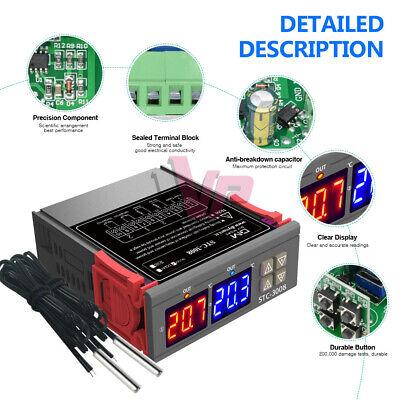 Dc12v Stc-3008 Digital Temperature Thermostat Controller Dual Led Ntc10k Probe