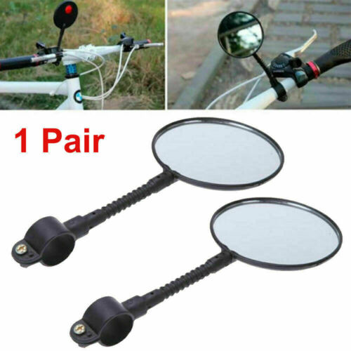 2x Flexible Bike Bicycle Cycling Cycle Handlebar Glass Rear View Mirror  Outdoor