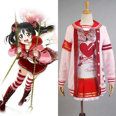 Love Live! Valentine's Day Yazawa Nico Uniform Christmas Dress Cosplay Costume  ()