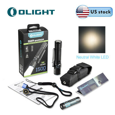Olight M2R Warrior 1500LM Rechargeable LED Tactical Flashlight (Neutral White)