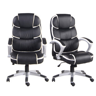 Ergonomic Pu Leather High-back Executive Computer Desk Task Office Chair Black