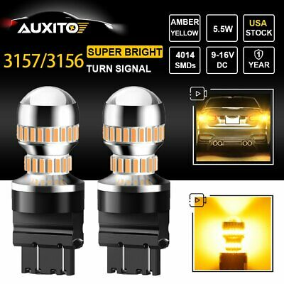 2X AUXITO 3157 3156 4157 54SMD LED Amber Turn Signal Reverse Light Bulb