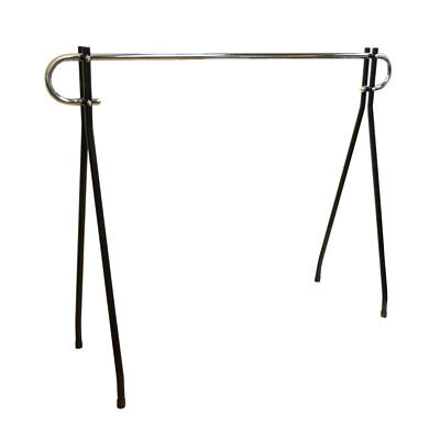64h Black Clothing Rack Garment Display Single Chrome Bar Retail Fixture
