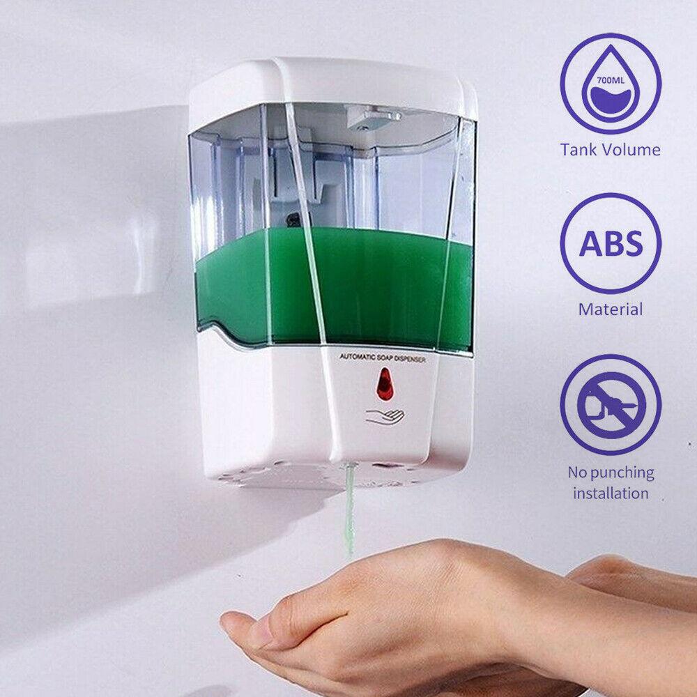 700ml Sensor Touchless Soap Dispenser Auto Handsfree for Kitchen Bathroom Bath