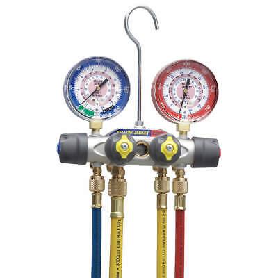 Yellow Jacket 49987 Mechanical Manifold Gauge Set4-valve