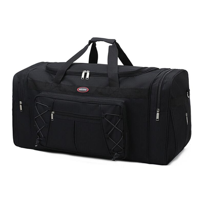Duffle Bag Sports Large Tote Handbag Travel Flight Gym Fitness Luggage Black