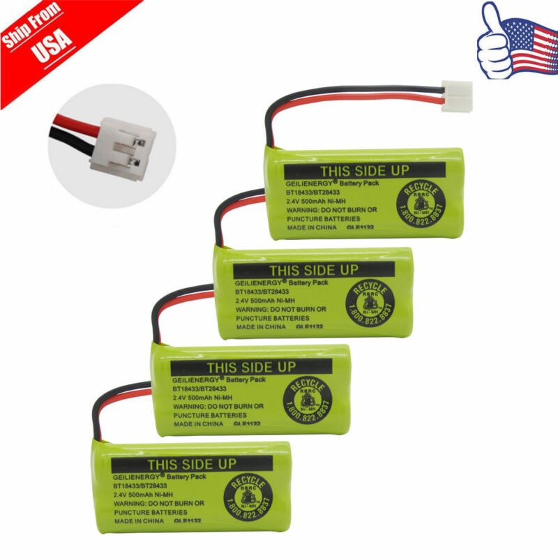 4x Cordless Battery For AT&T/Lucent BT184342 BT18433 BT28433 3101 BT-8000 USA