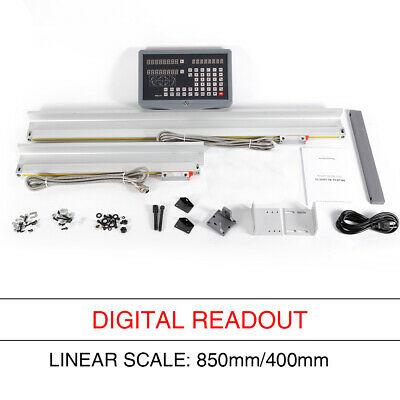 Digital Readout Display Meter For Milling Lathe Machine Linear Scale 2 Axis Dro
