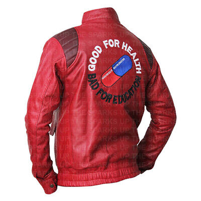 Akira Kaneda Capsule Embroidery Education Leather Jacket Best Halloween Costume