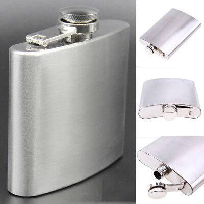(Stainless Steel Hip Liquor Alcohol Whiskey Flask Cap Pocket Wine Bottle 7 8 10oz)