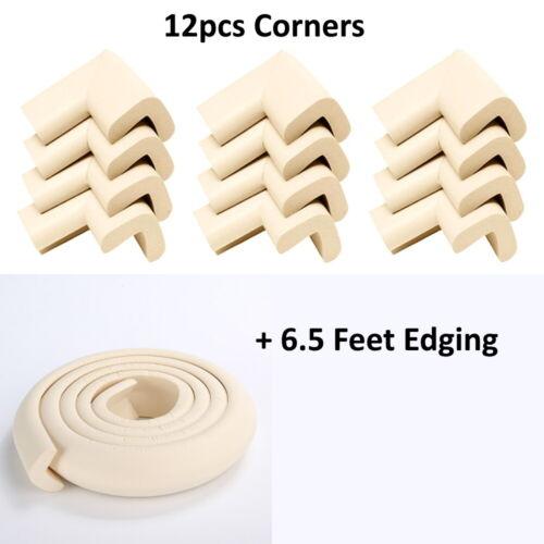 Beige Furniture Table Edge Corner Protector Soft Child Safety Foam Cushion Guard