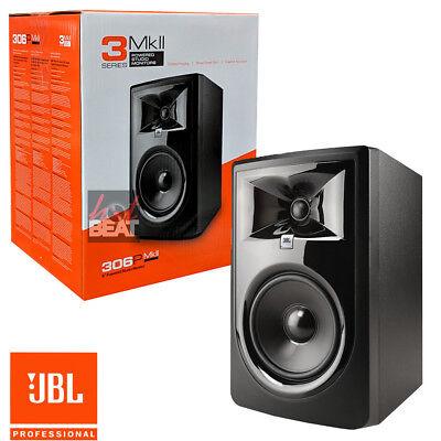 - JBL 306P MkII Powered 2-Way Active Studio Monitor Reference Speaker 110-240 V