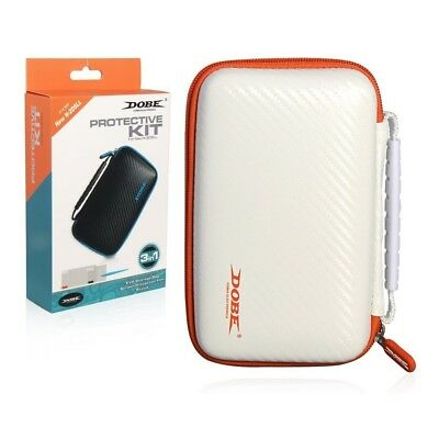 Dobe NEW 2DS XL Protective Carry Case White, Screen Protector Filter, Stylus Pen