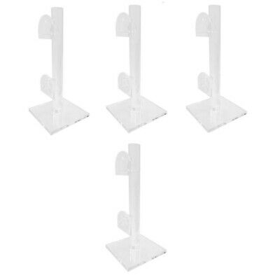 2 Tier Sunglasses Display Rack Stand Eyewear Holder Clear Acrylic-pack Of 4