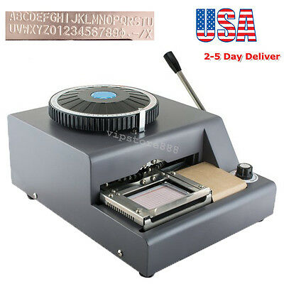 Usa 72-character Letters Manual Embosser Credit Id Pvc Card Vip Embossing Tool