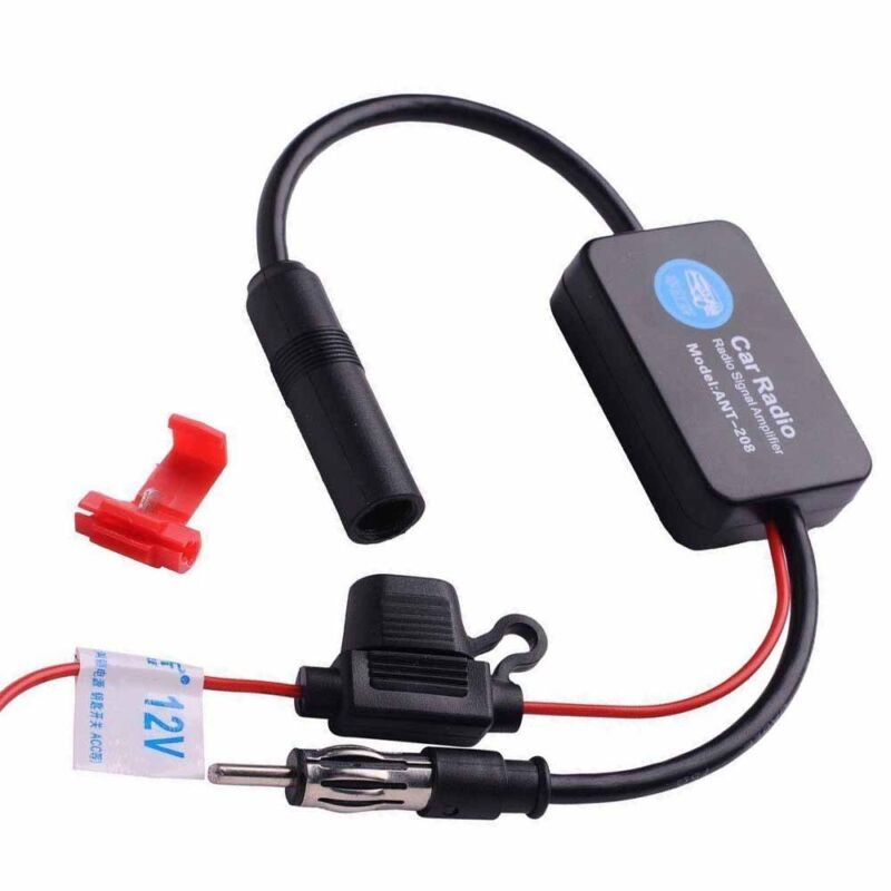 US Stock ANT-208 Car Automobile Antenna Radio FM Signal Booster Amplifier 12V