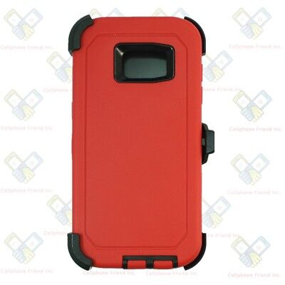 Used, Samsung Galaxy (S7 Edge) Defender Red Black Case Cover [Belt Clip Fits Otterbox] for sale  Shipping to India