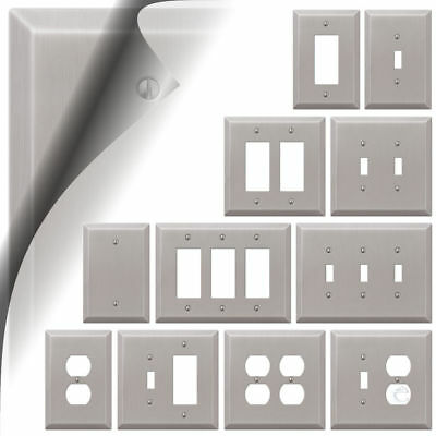 Oversized Brushed Nickel Switch Plate Cover Toggle Rocker Outlet Large Wallplate