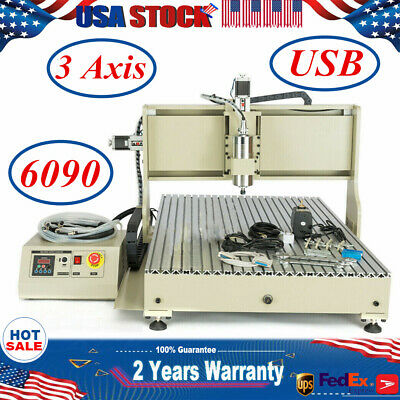 3 Axis Usb Cnc 6090 Router Engraver Carving Drill Mill Woodwork Diy Machine Vfd