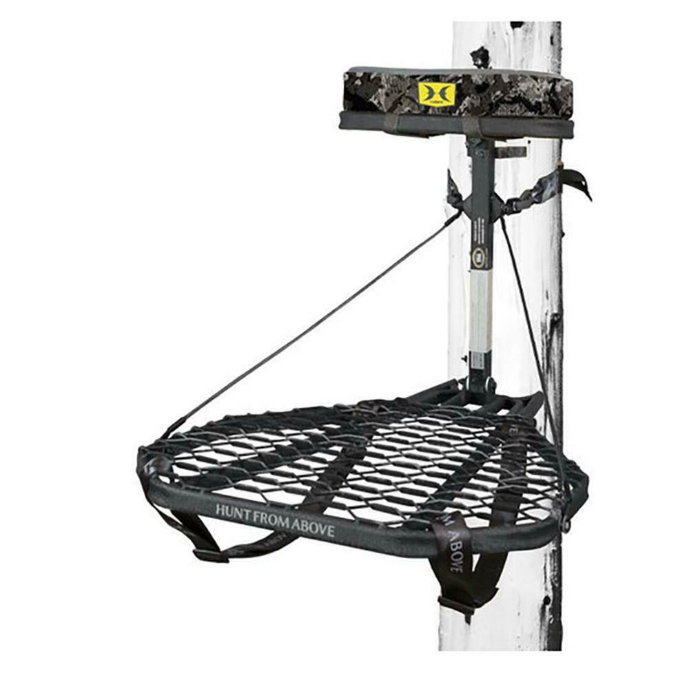 Hawk COMBAT Durable Steel Hang-On Hunting Treestand & Full-B
