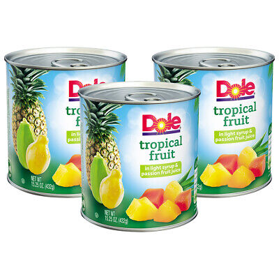 - (9 Pack) Dole Tropical Fruit in Light Syrup & Passion Fruit Juice 15.25 oz. Can