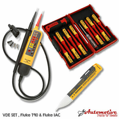 Apprentice Electrician Starter Kit -fluke T90 1ac Vde Insulated Screwdrivers
