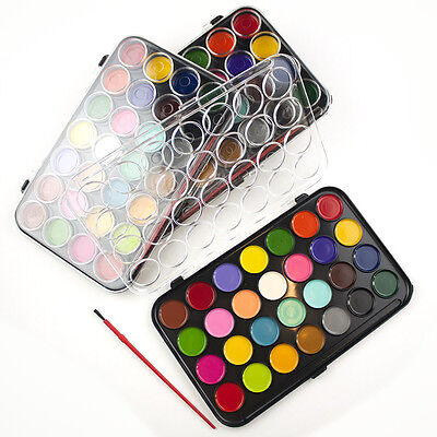 Water Colour Paints And Brush Set 28 Colors  Kids Art Craft Artist Box Case New