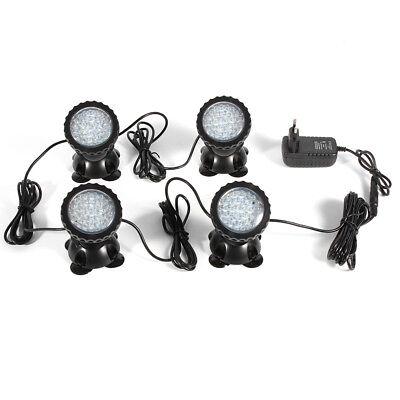 NEU 4 x RGB LED Wasserdicht Unterwasser-Licht Teich Pool-Beleuchtung Aquarium