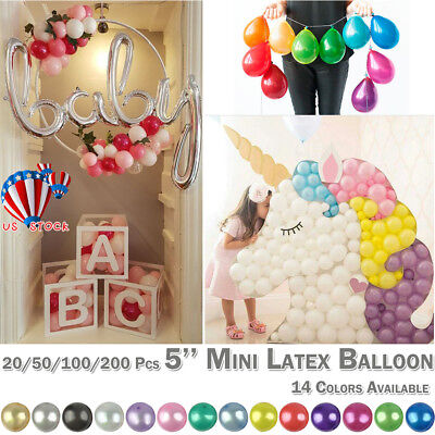 10-200 PK Air Quality Mini Round Balloons Latex 5
