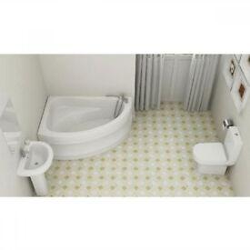 Curve Corner Bathroom Suite Was £691.99 Now £425