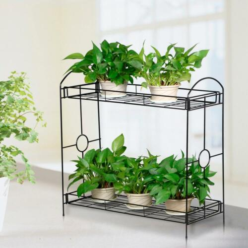 Heavy duty tiered plant stand indoor wrought iron flower pot holder shelves new - Steel pot plant stands ...