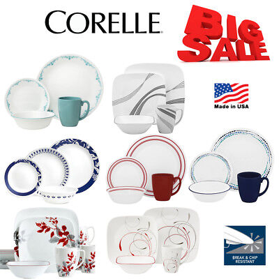 Corelle Vitrelle Kitchen Design Dinnerware 16 Pcs Set Service Cup Plates