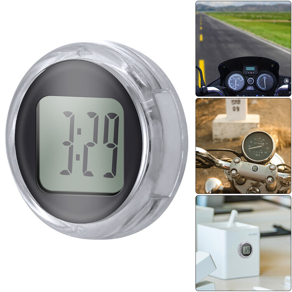 Wasserdichter Motorrad Digital Clock Stick-auf Motorrad-Uhr für Harley-Fahrzeug